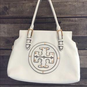 Handbags - White pebbled leather handbag